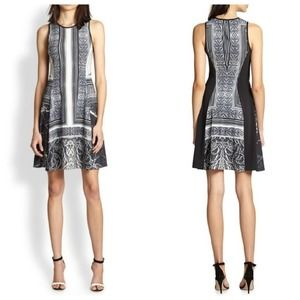 Clover Canyon Etched Marble Fit And Flare Dress